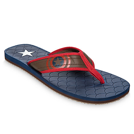 Captain America Flip Flops for Adults