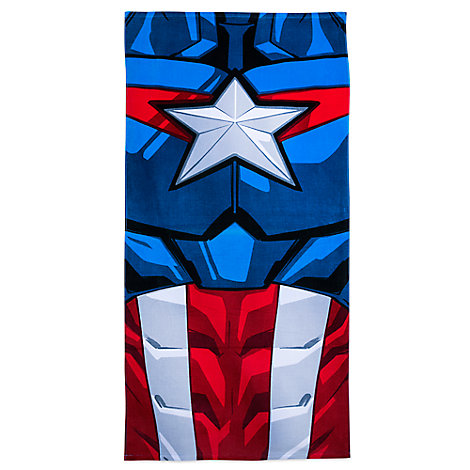 Captain America Beach Towel - Personalized