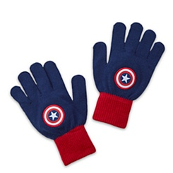 Captain America Knit Gloves for Kids