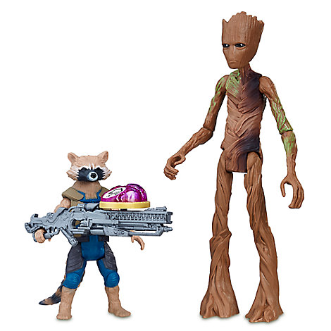 Rocket Raccoon and Groot Action Figures with Infinity Stone - Marvel's Avengers: Infinity War