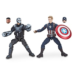 Captain America & Crossbones Action Figures - Legends Series - Marvel 10th