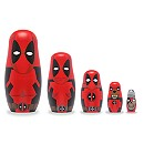Deadpool Family Wooden Nesting Doll Set