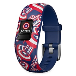 Captain America Vivofit Jr. 2 Activity Tracker for Kids with Adjustable Band