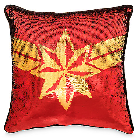 Captain Marvel Reversible Sequin Pillow