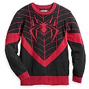 Spider-Man Miles Morales Pullover Sweater for Men by Mighty Fine