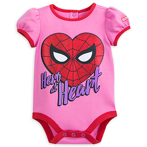Spider-Man Heart Cuddly Bodysuit for Baby