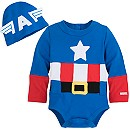 Captain America Costume Bodysuit for Baby