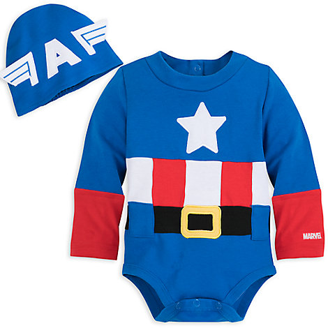 Captain America Costume Bodysuit for Baby  sc 1 st  Marvel Shop & Captain America Costume Bodysuit for Baby | Clothes | Marvel Shop