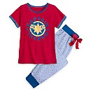 Captain Marvel Pajama Set for Women