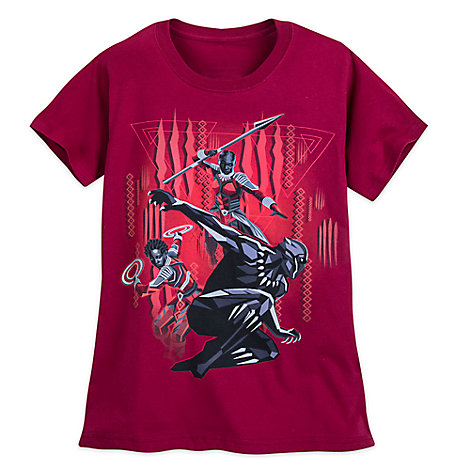 Black Panther T-Shirt for Women - Red