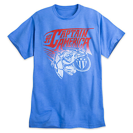 Captain America Tee for Men by Mighty Fine