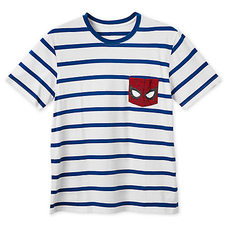 Spider-Man Striped T-Shirt for Men
