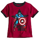 Captain America Ringer Tee for Boys