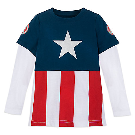 Captain America Long Sleeve T-Shirt for Boys