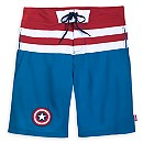 Captain America Swim Trunks for Men