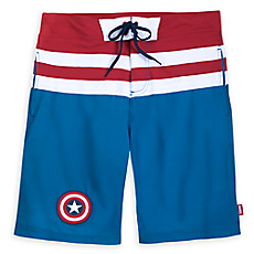 4503b1b93a86d Captain America Swim Trunks for Men