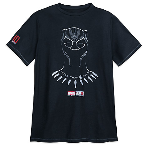 Black Panther T-Shirt for Men - Marvel Studios 10th Anniversary