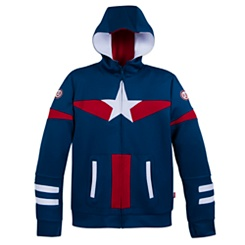 Captain America Hooded Zip-Up Jacket