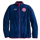 Captain America Fleece Jacket for Men - Personalizable