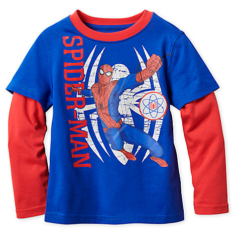 Spider-Man Long Sleeve Layered T-Shirt for Boys