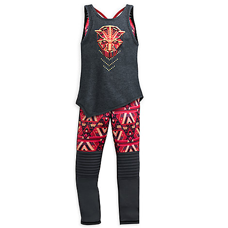 Black Panther Two-Piece Tank Top & Leggings Set for Girls by Our Universe