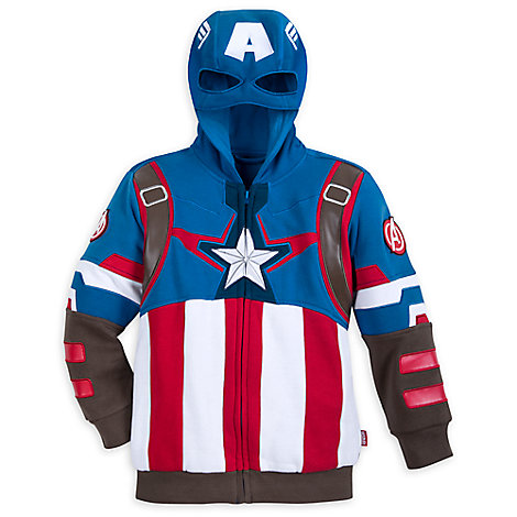 Captain America Costume Hoodie for Boys