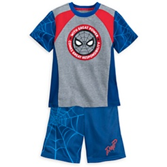 Spider-Man T-Shirt and Reversible Shorts Set for Kids