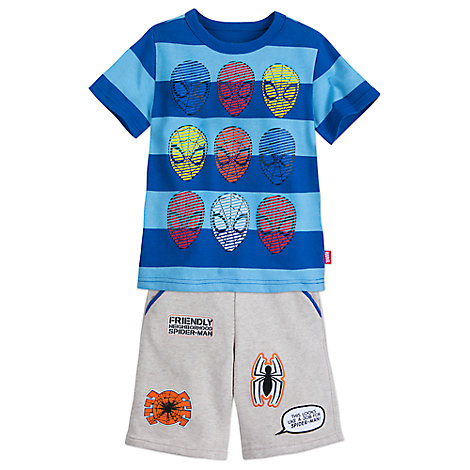 Spider-Man Shirt and Shorts Set for Kids