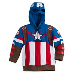 Captain America Zip Hoodies for Boys