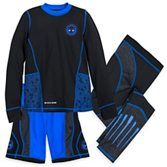 Black Panther Three-Piece Top, Shorts and Pants Set for Boys