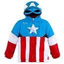 Captain America Jacket with Hood for Boys - Personalizable