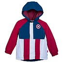 Captain America Rain Jacket and Attached Carry Bag for Kids