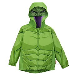 Hulk Packable Rain Jacket and Attached Carry Bag for Kids