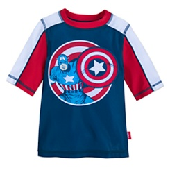 Captain America Rash Guard for Kids