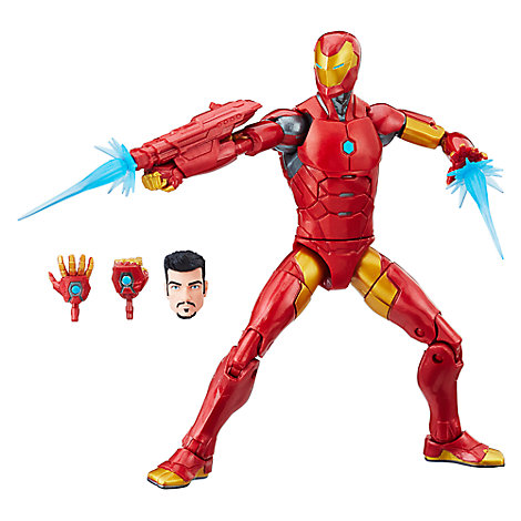 Invincible Iron Man Action Figure - Black Panther Legends Series - 6''