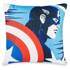 Captain America and Black Widow Throw Pillow