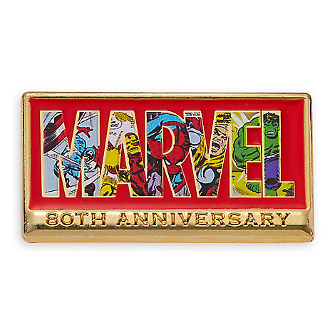 Marvel 80th Anniversary Logo Pin - Limited Release
