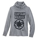 Marvel's Captain Marvel Cowl Neck Sweater for Juniors