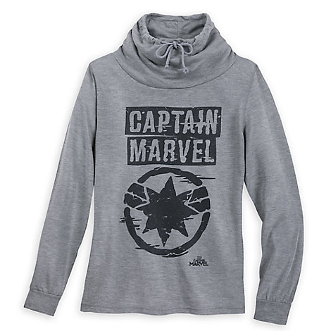 Captain Marvel Cowl Neck Sweater for Juniors