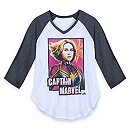 Marvel's Captain Marvel Raglan T-Shirt for Juniors