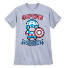 Captain America Kawaii Art T-Shirt for Men