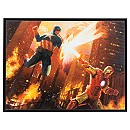 Captain America and Iron Man ''Hero Clash'' by Christopher Clark - Ltd. Edition