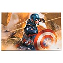 Captain America ''Lunge: Captain America'' Giclée - Limited Edition