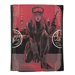 Black Widow Leather Wallet - Customizable