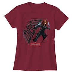 Black Widow Tee for Women: Captain America: Civil War - Customizable