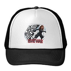 Black Widow Trucker Hat: Captain America: Civil War - Customizable