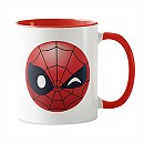 Spider-Man Winking Emoji Mug - Customizable