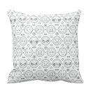 Marvel Emoji Characters Outline Throw Pillow - Customizable