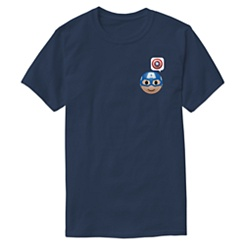 Captain America Emoji Tee for Men - Customizable