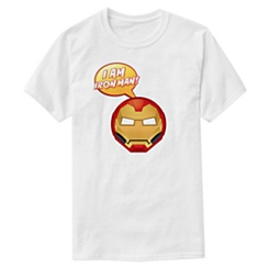 ''I Am Iron Man!'' Text Emoji Tee for Men - Customizable